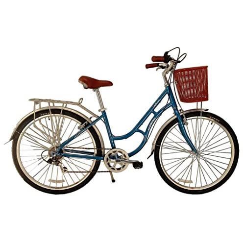 51kkGrywKcL. SS500  - ECOSMO 700C Alloy Ladies Women Shop City Road Bicycle Bike 7 SP -28AC02B+basket