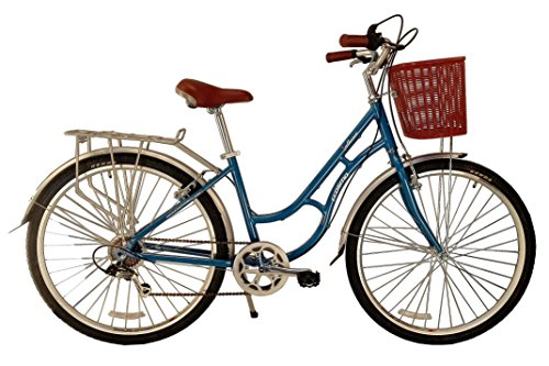 51kkGrywKcL - ECOSMO 700C Alloy Ladies Women Shop City Road Bicycle Bike 7 SP -28AC02B+basket