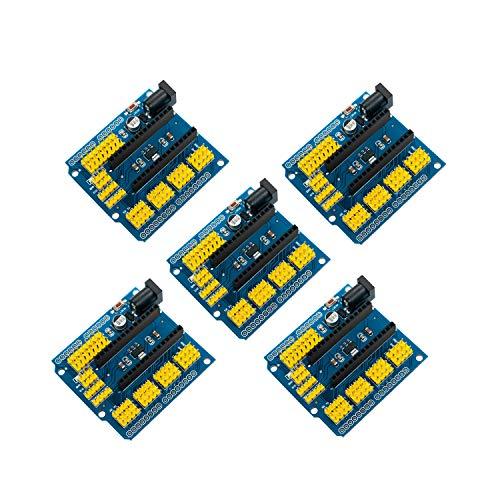 5PCS Nano I/O Sensor de expansión Shield Módulo para Arduino UNO R3 Arduino Nano V3.0