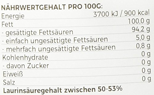 MeaVita Bio Kokosöl, nativ, 1er Pack (1 x 1000 ml) im Bügelglas - 2