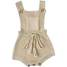 ZODOF Mono de suéter para niños Bebés recién Nacidos niños Borla de Punto Toddler Overall Jumpsuit