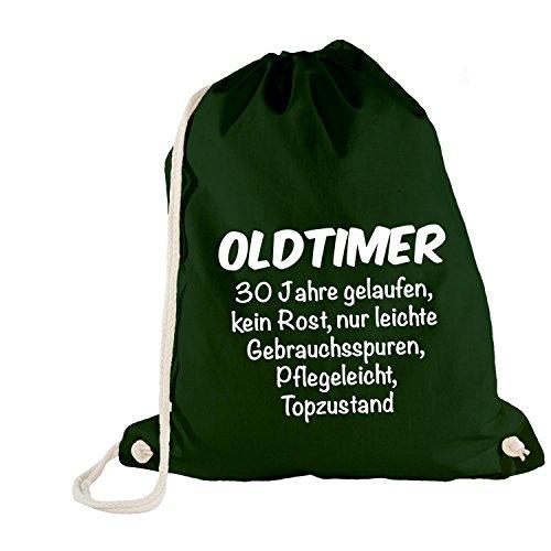 Turn sacchetto-Oldtimer 30anni di compleanno-Birthday 30years Fun idea regalo verde taglia unica