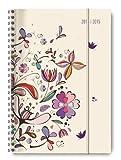 Collegetimer Flower Art 2014/2015 - Schülerkalender A5 - Weekly - Ringbindung - 224 Seiten
