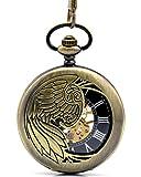 Infinite U Esqueleto Hueco Águila/Ángel/Fénix Colgante Collar Reloj de...