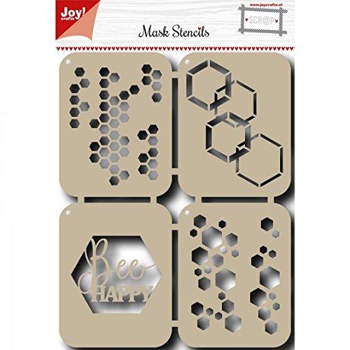 Joy!Crafts Schablone mit Bienenen-Motiv, Metall, Grau, Einheitsgröße -