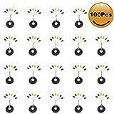 Croch 100 Stück Posenstopper aus Gummi Stopper Perlen Angeln Zubehör