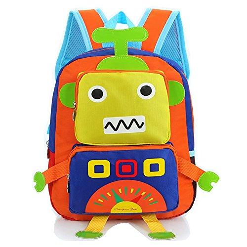 flyingsky-robot-kids-backpack-nylon-cartoon-baby-boys-girls-school-bag