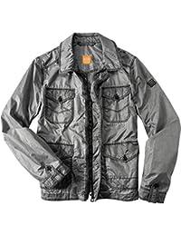 BOSS Orange Herren Jacke Opony-W Polyamide modisches Langarmoberteil Unifarben, Größe: 52, Farbe: Grau