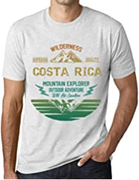 One in the City Hombre Camiseta Vintage T-Shirt Gráfico Costa Rica Mountain Explorer Blanco