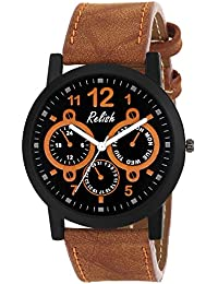 RELISH RE-S8114BT Black Slim Analog Watches For Men's And Boy's