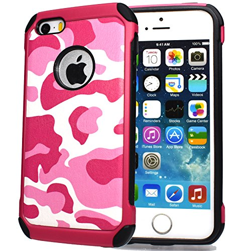 iPhone 6 hülle, iPhone 6s Holster hülle Flip nach oben und unten Handy hülle Premium PU Leder Tasche Flip Case Etui Handy Schutz Hülle für Apple iPhone 6 / 6s - Braun rosa