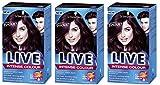 Schwarzkopf Live Intense XXL Permanent Farbe Mystic Violet 087–Pack von 3