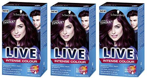 ense XXL Permanent Farbe Mystic Violet 087–Pack von 3 (Temporäre Weiße Haar Color Spray)