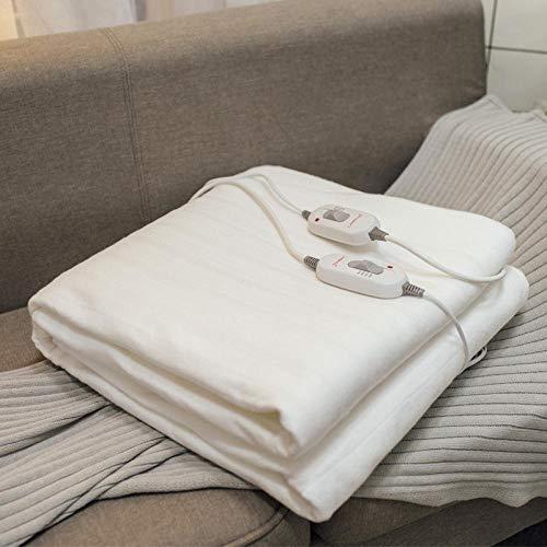 Heizdecken Fürs Bett mit Abschaltautomatik überhitzungsschutz Doppelte Steuerung Der Gewaschenen Heizdecke 3 Geschwindigkeitssteuerung 190-90-0.9M einzelbett Für eine Person