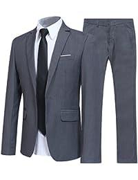 Allthemen Herren 2-Teilig Slim FIT Business Anzug