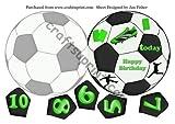 en forme de ballon de football carte en vert par Jan Fisher