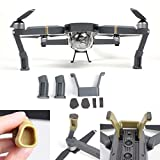 #4: Fstop Labs DJI Mavic Pro Landing Gear Leg Height Extender Kit Riser Set Stabilizers with Protection Pad (Grey)