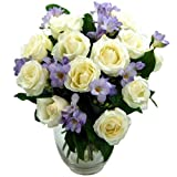 Clare Florist Breathtaking Amethyst Bouquet with FREE Next Day Delivery - Rose and Freesia Fresh Flowers Perfect for Birthdays, Anniversaries and Thank You Gifts