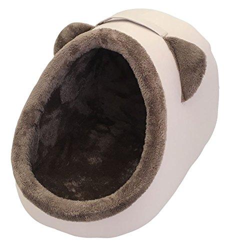 Cama Heritage de lujo para mascotas, diseño de iglú.  Cojín grande extraible en el interior para máxima comodidad.  Ideal para gatos, cachorros y perros pequeños.  -  Un lugar cómodo, privado y calentito para que tu mascota duerma y se relaje.  Compl...
