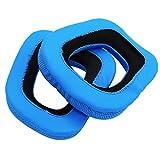 1 Paar weiche Ersatzschaum Ohrpolster Cap Kissen für Logitech G35 G930 G430 F450 Headset Blau