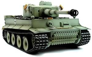 Taigen RC Tank avec Pièces en Métal - Tiger I Gris Camouflage