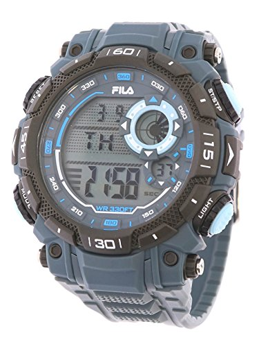 Fila sportliche Herrenuhr Digital 10 BAR Licht Alarm 38-826-004