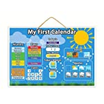 Magnetic My First Calendar | Childrens Educational Toy With Thick Buttons For Tiny Fingers, Teach Your Child The Calendar, Weather and Seasons With Hanging Loop And Downloadable Colouring Sheets