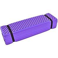 Alfombrilla de espuma para sentarse de Dilwe, 4 colores, ligera, plegable, para gimnasio, yoga, ejercicio, sentadillas, para camping, senderismo, deportes al aire libre, morado