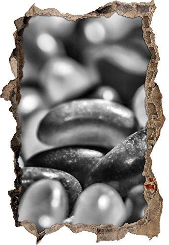Monocrome, confiserie Belly Beans Jellypercée murale en apparence 3D, la taille de la vignette mur ou de porte: 92x62cm, stickers muraux, sticker mural, décoration murale