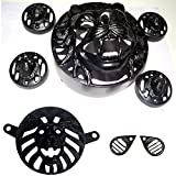 #3: AllExtreme Headlight Heavy Grill With Indicator, Eyes Grill and Tail Light Grill For Royal Enfield Bullet 500 Twinspark and Royal Enfield Bullet Classic 350 - 500 Design (Lion Combo - 8 Items)