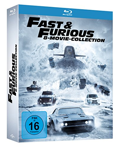 fast and furious 1 7 blu ray Fast & Furious - 8 Movie Collection [Blu-ray]