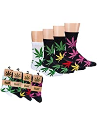 Herren und Damen Socken Hanf Hanfsocken Weed Socks 1 Paar 35/38