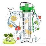 Jacobssen 946ML auslaufsicher Fruit Infuser Safe Juice Shaker Zitrone Obst Wasserflasche