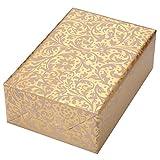 Geschenkpapier 3 Rollen, Motiv Brokat gold ornamentales Geschenkpapier in crème, auf Perlglanz veredeltem Fond. Für Hochzeiten, Geburtstage, Valentinstag. Edel und hochwertig.