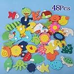 48pcs Aimants Dessin Anim� Color�s en...