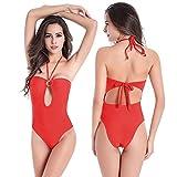 SHISHANG fertilizzante bikini signora per aumentare di fascia alta in Europa e negli Stati Uniti morbida elevata elasticità era sottile costume da bagno corpo , red , m
