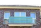 Smart Deko 600x90cm Blau Weiß Streifen Balkonsichtschutz, Balkonverkleidung, Windschutz, Sichtschutz und UV-Schutz für Balkon, Gartenanlagen, Camping und Freizeit (600x90cm)