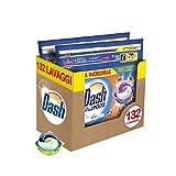 Dash Allin1 PODS Detersivo Lavatrice in Capsule Ambra, Maxi Formato 2 x 66, 132 Lavaggi