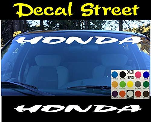 CELYCASY Honda Auto-Windschutzscheibe, gestanzt, Vinyl-Aufkleber, Visier, Banner Accord Prelude Civic -