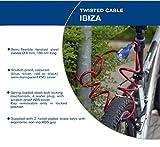 Serratura a spirale di sicurezza di alta qualità IBIZA BLU / serratura della bici pesante per bicicletta, scooter, griglie e altro / Antifurto bloccato con chiave chiave per biciclette