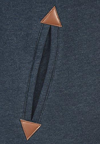 DESIRES Vicky Pile Straight Zip Damen Lange Sweatjacke Cardigan Sweatshirtjacke Mit Teddy-Futter Und Kapuze, Größe:S, Farbe:INS BLU M P (P8991) - 4