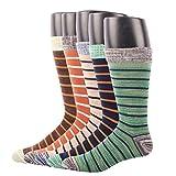RioRiva Men Dress Formal Cotton Tube Mid Calf Socks Cotton Rich Work Wear Breathable Box Patterned
