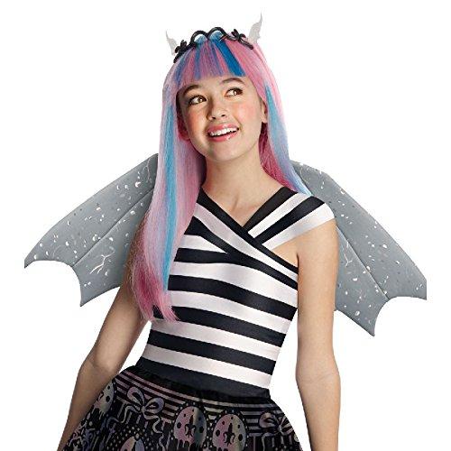 Monster High Kinder Perücke mit Tiara und Ohren Rochelle (Rochelle Monster Goyle Kostüme High)