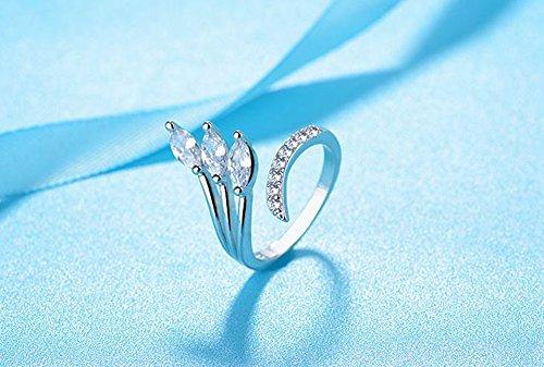 Leisial nuovo anello di moda gioielli anello di cristallo