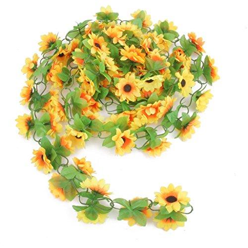 foopp Hochzeit Home Decor Sonnenblume Künstliche klein Blume Garland Vine