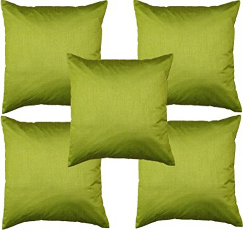 Czar Home Green Cushion Covers - Set of 5 (12x12 Inch)