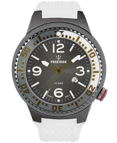 Kienzle Men's Quartz Watch POSEIDON XL Slim K2031055283-00391 with Rubber Strap