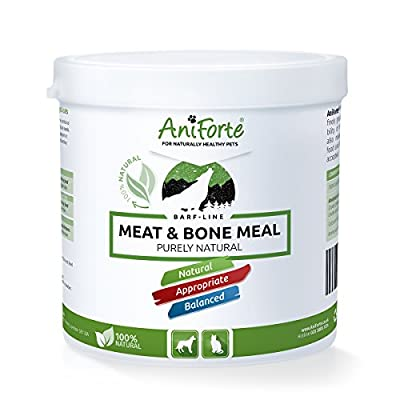AniForte Meat & Bone Meal 500g: Raw Dog Food Supplement for Cats, Dogs & Pets with High Calcium