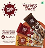 Mojo Bar Snack Bars, Choco Almond, Yoghurt Berry and Nutty Apricot, 192g (Pack of 6)