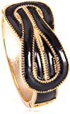 Claire Garnett Reef Knot Look, Enamel Gold Plated Hinged Bangle